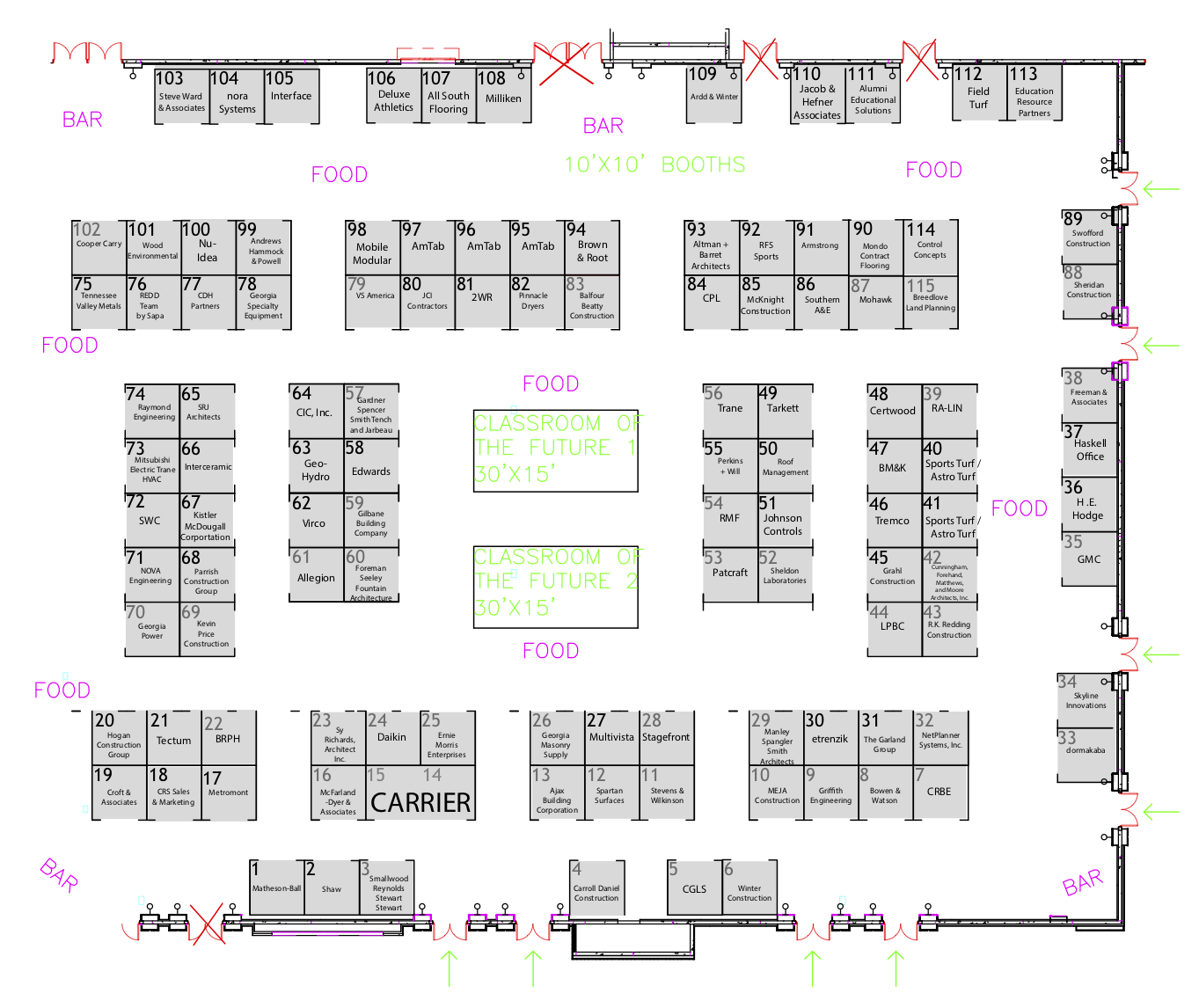 2019 Exhibitor Layout_FINAL